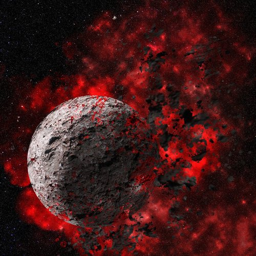 planet  explode  space
