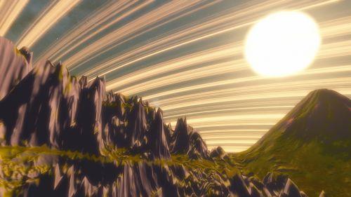 planet alien sky star galaxy