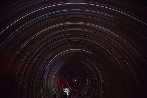 planetarium  star trails  stars