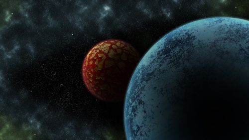 planets space background