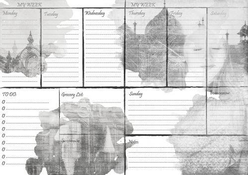 planner week calendar