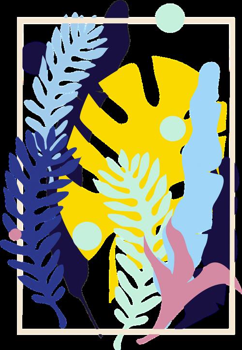 plants exotic print