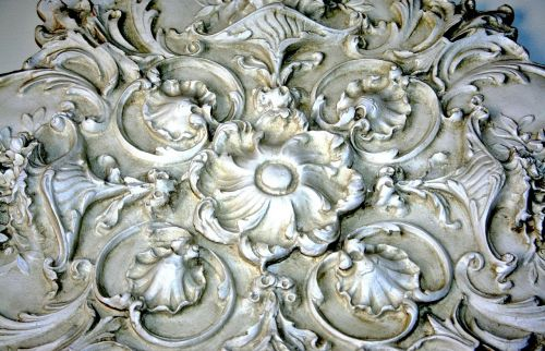 plaster relief medallion architectural detail