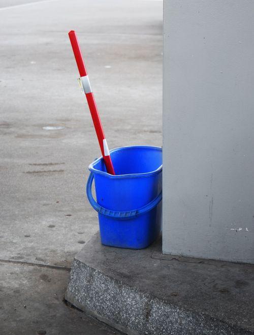 plastic bucket blue
