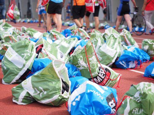 plastic bag sport event luggage bag
