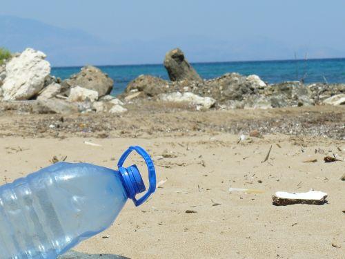 plastic bottle bottle beach