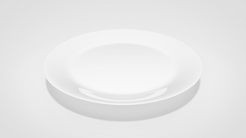 plate tableware white