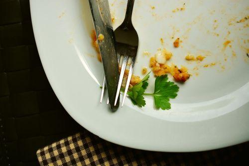 plate empty eat