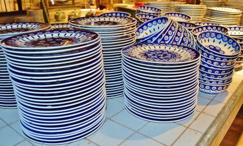 plate bolesławiec tableware