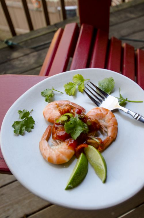 Plated Shrimp