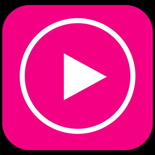 play button  icon  app icon