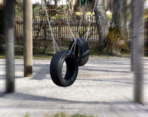 playground swing mature