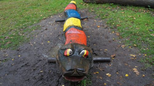 playground children caterpillar