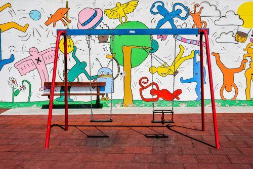 playground swing kindergarten