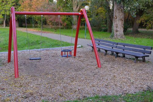 playground swing play