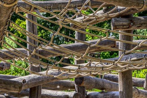 playground  wood trunks  wood