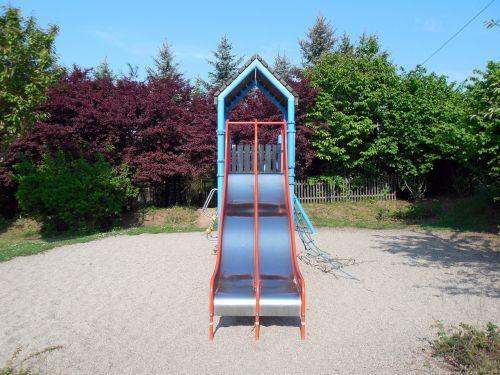 playground game device slide