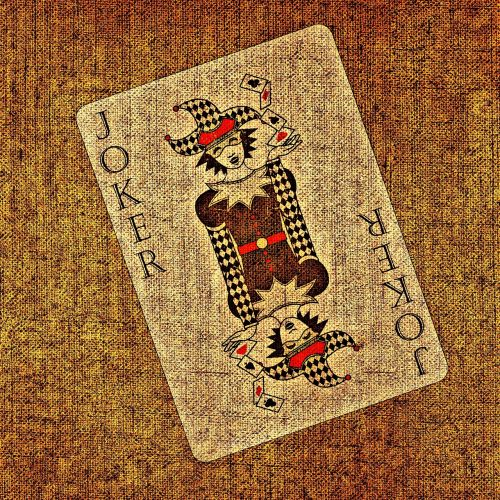 playing card joker tissue