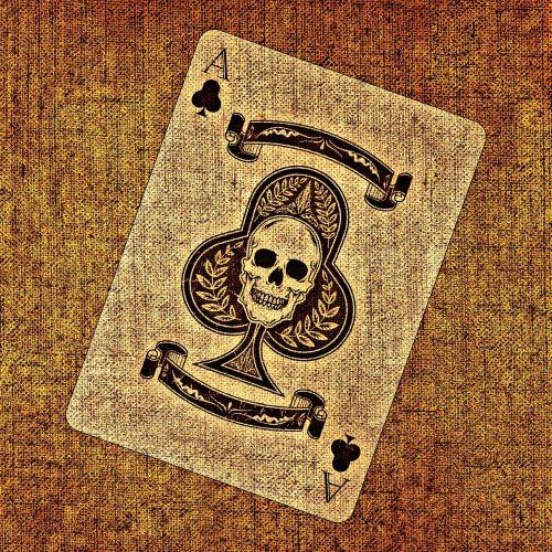 žaidimo korta,ace,kirsti,audinys,struktūra,kortų žaidimas,žiūrėti,žaisti,azartiniai lošimai,kaukolė ir skersmens kaulai,meniškai,žemėlapis