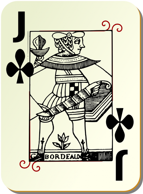 playing card knave clubs
