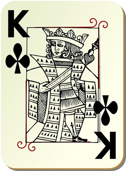 playing card king clubs