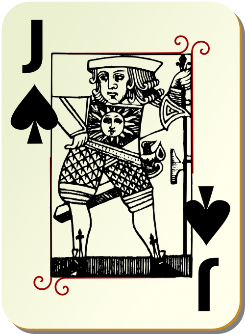playing card knave spades