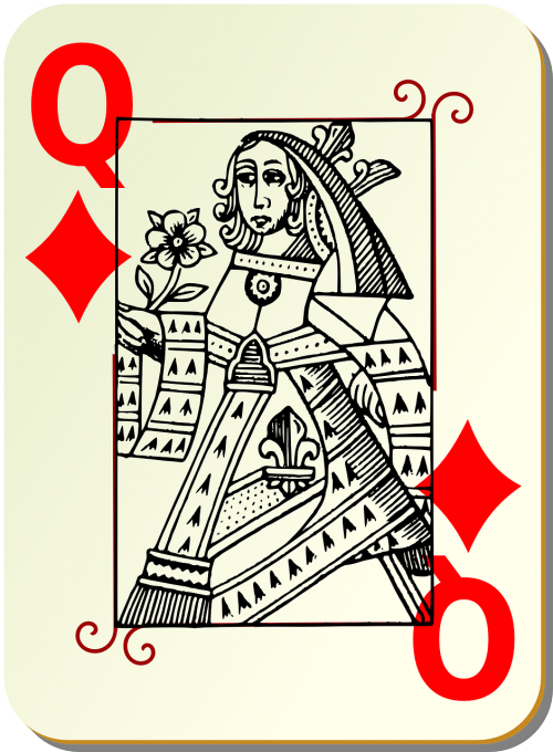 playing card queen card deck