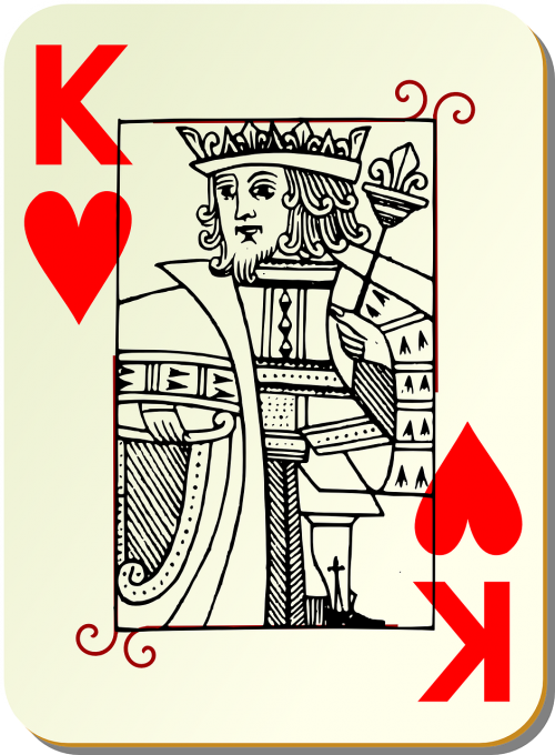 playing card king card deck
