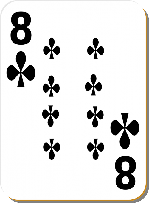 playing card eight clubs