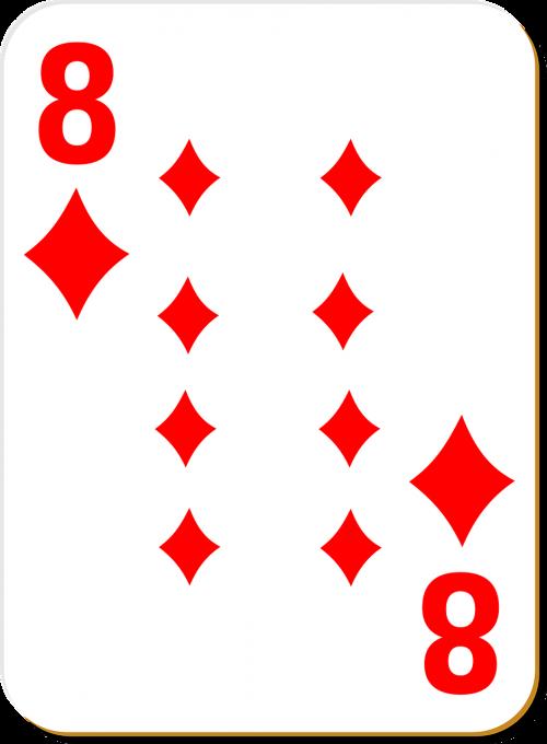 playing card eight diamonds