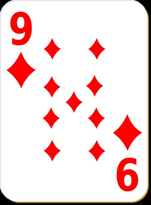 playing card nine diamonds