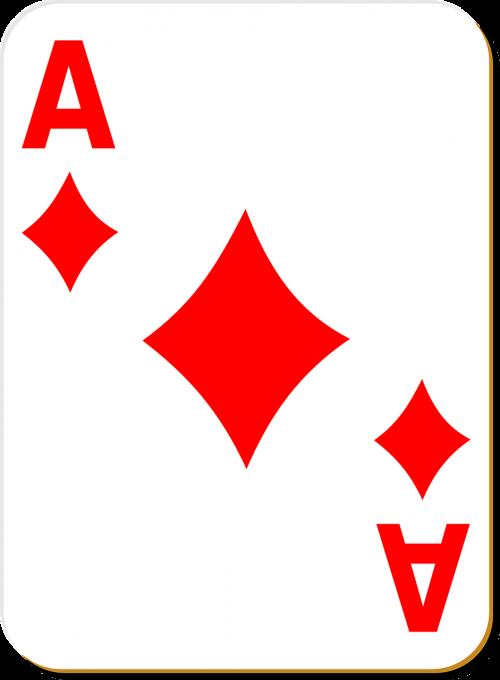 playing card ace diamonds