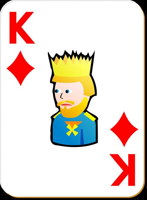 playing card king diamonds