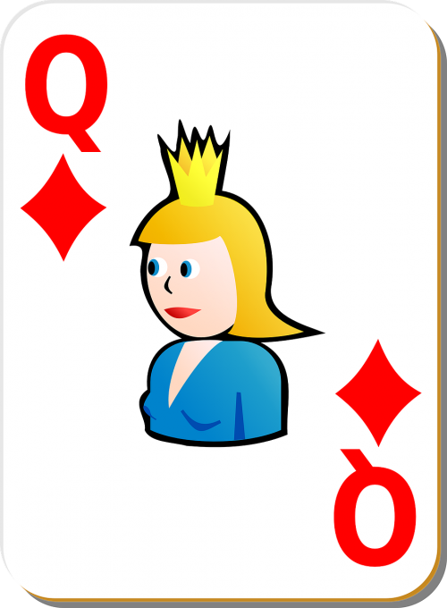 playing card queen diamonds