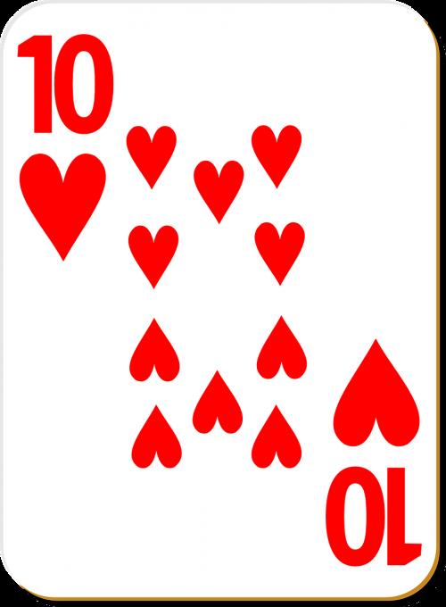 playing card ten diamonds