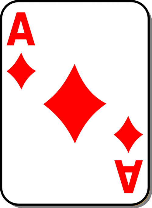 playing card ace diamond