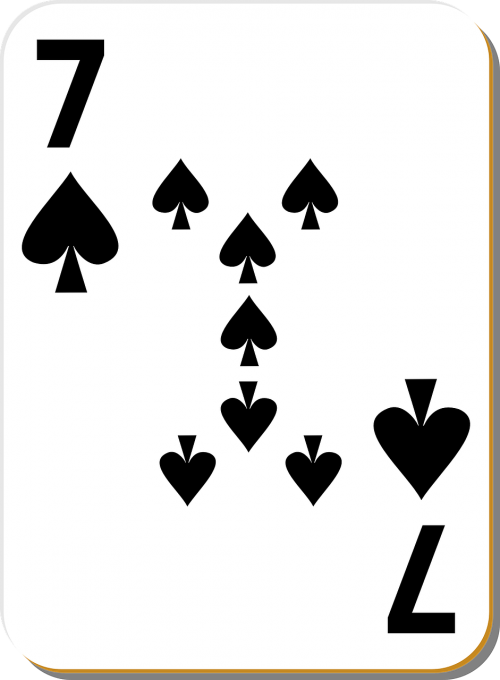 playing cards spade 7