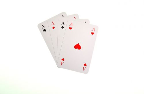 playing cards aces heart