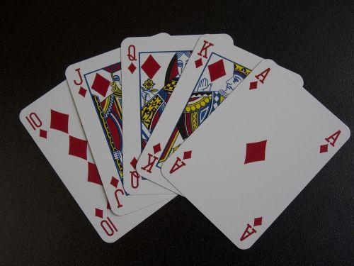 playing cards royal flush poker