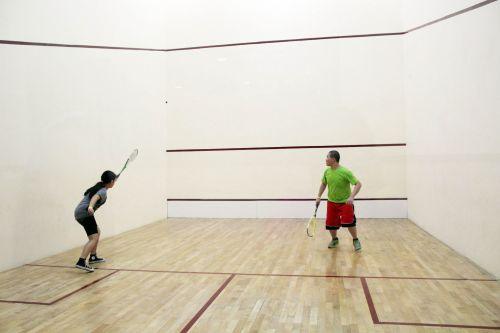 Playing Squash Game