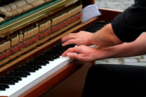 playing the piano musician instrument