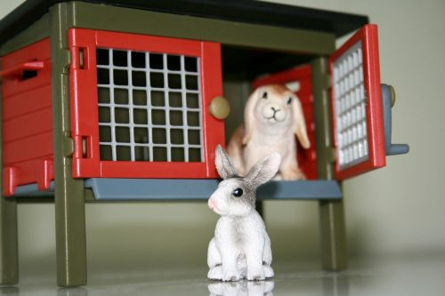 playmobil toys rabbit hutch