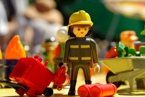 playmobil toy firefighter