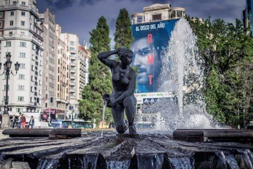 plaza de espana  fountain  espana