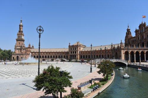 plaza de españa  seville  sevilla