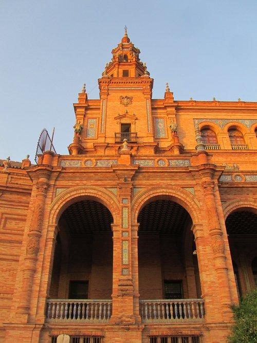 plaza de espana  spain  sevilla
