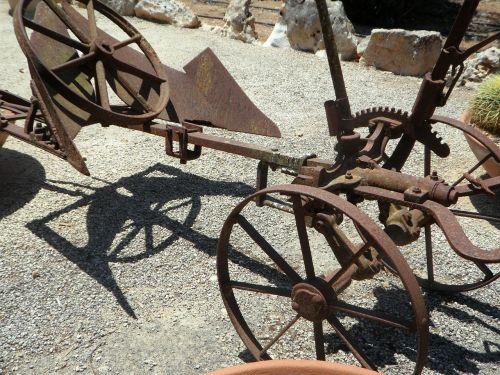 plough old plough metal