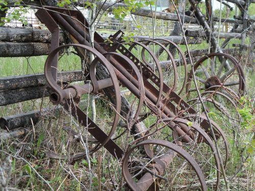 plough machine iron