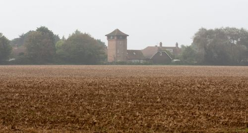 Ploughed Field Misty Morning