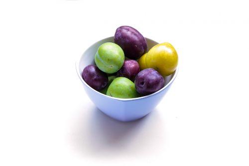 plum eating healthy food